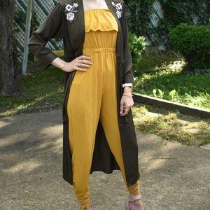 Romper and express brand Kimono (as a set)